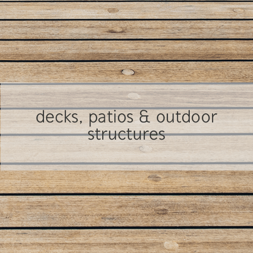 decks, patios & outdoor structures