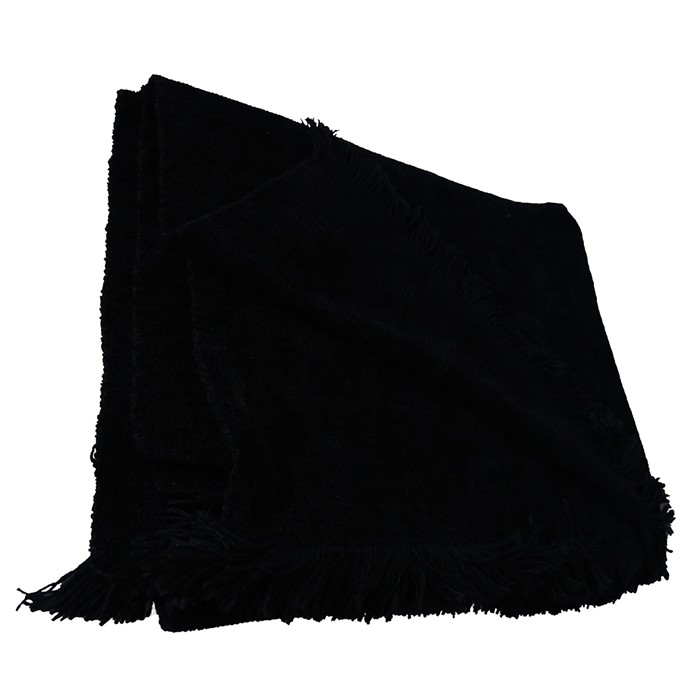 Picture of Black Chenille Two-Tone Throw