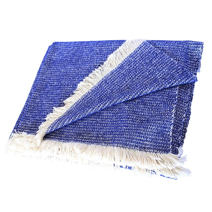 Picture of Cobalt Chenille Two-Tone Throw