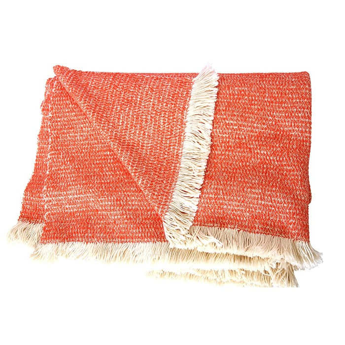 Picture of Coral Chenille Two-Tone Throw