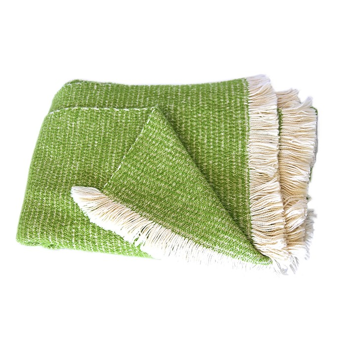 Picture of Lime Chenille Two-Tone Throw