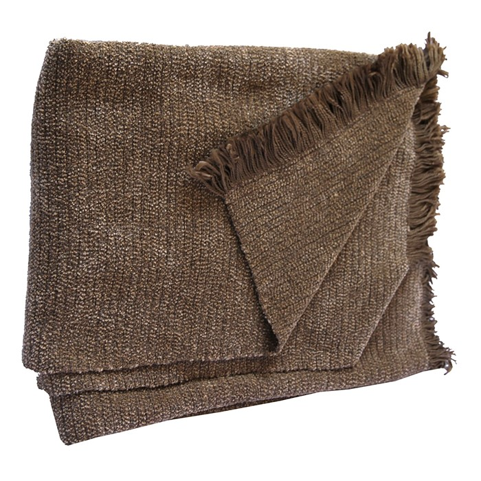 Picture of Mushroom Chenille Two-Tone Throw