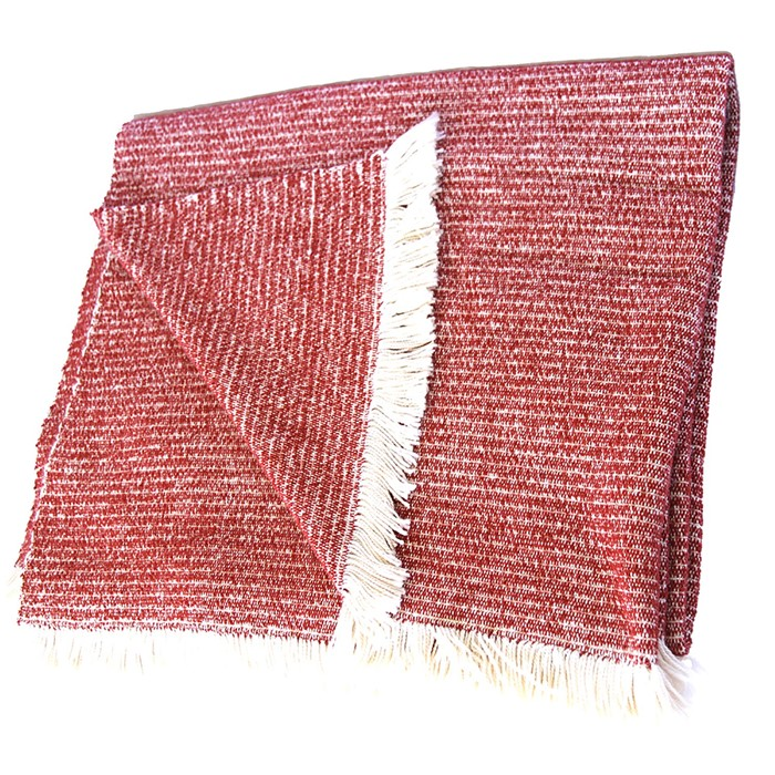 Picture of Rust Chenille Two-Tone Throw