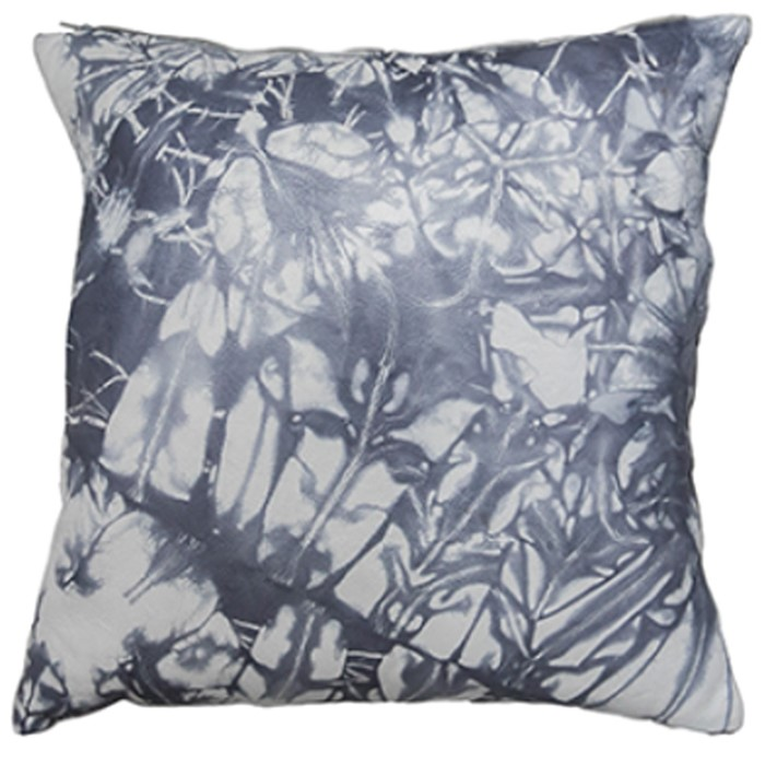 Picture of Abstract Leather Cushion Cover - Charcoal