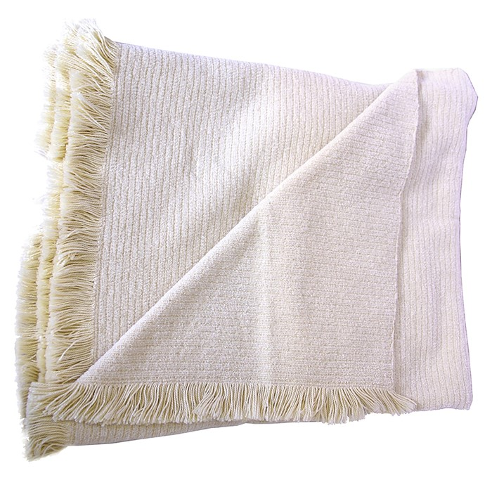 Picture of Off White Chenille Two-Tone Throw