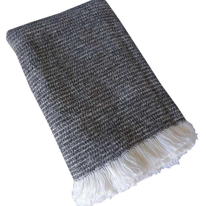 Picture of Grey Chenille Two-Tone Throw