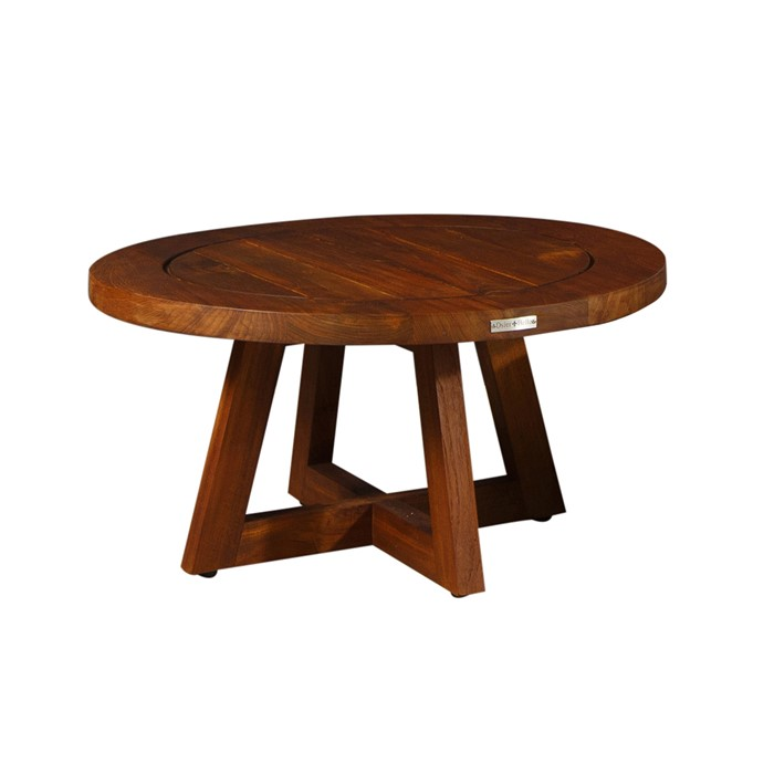 Picture of TEAK ROUND COFFEE TABLE