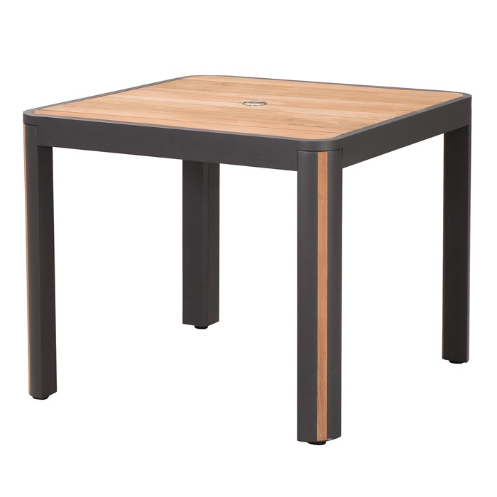 Picture of Madrid 36 Inch Dining Table with Umbrella Hole in Charcoal