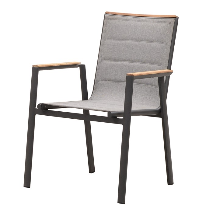 Picture of Madrid Dining Arm Chair In Charcoal