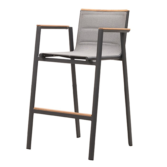 Picture of Madrid Bar Height Arm Chair in Charcoal