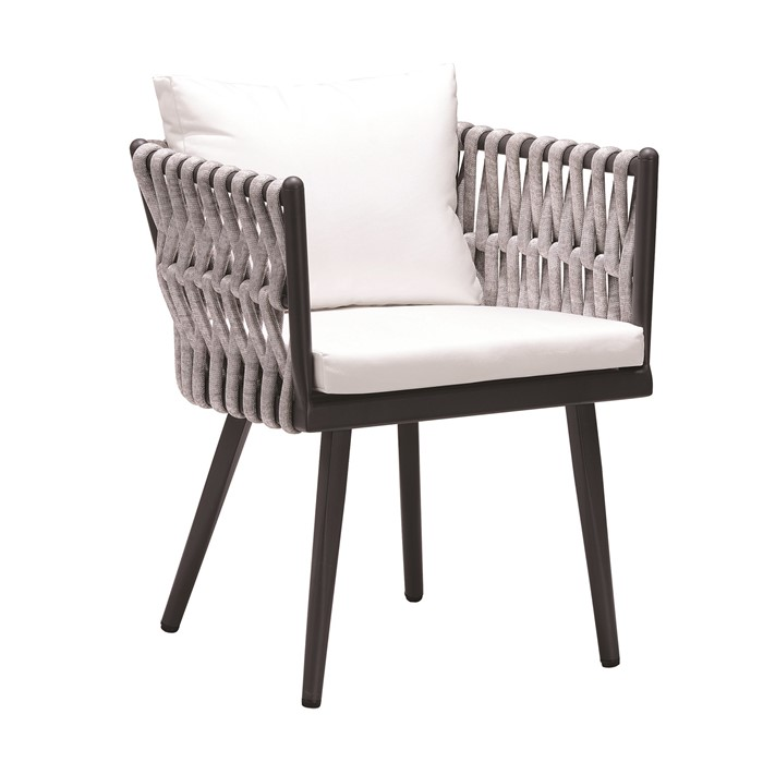 Picture of Crown Dining Arm Chair in Charcoal