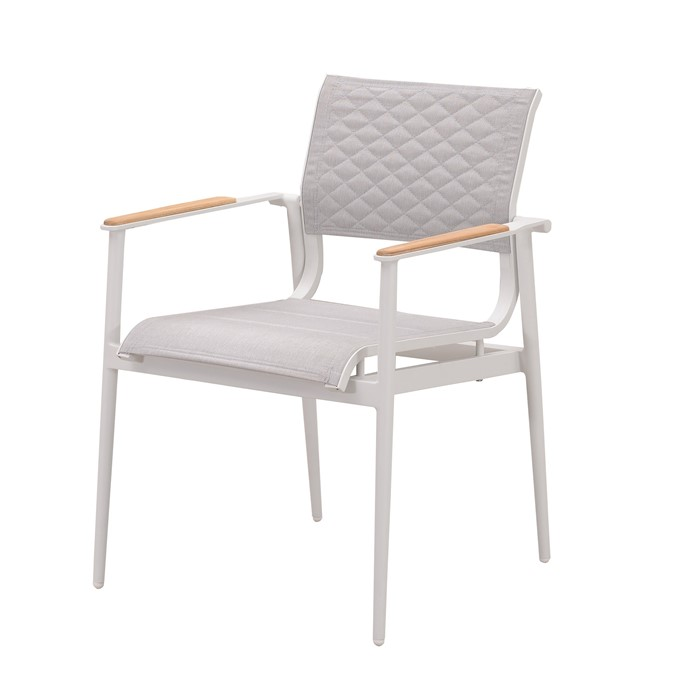 Picture of California Dining Arm Chair in White